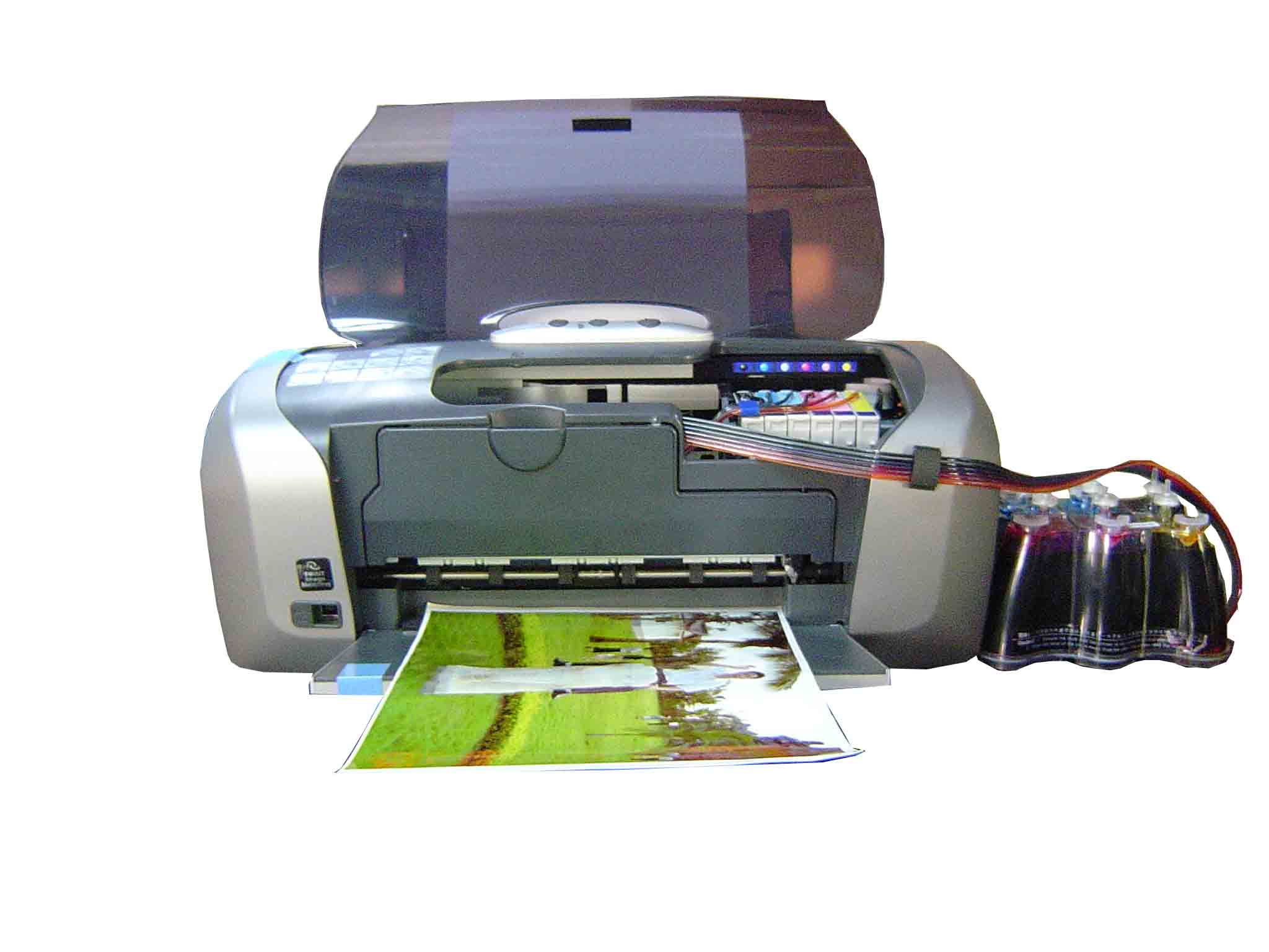 Fully set-up ready to go CIS system installed in printer