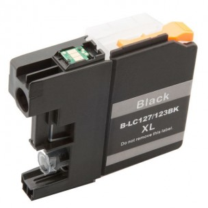 Compatible Brother LC-127XLBK High Capacity Black Ink Cartridge (LC127XLBK Inkjet Printer Cartridge)
